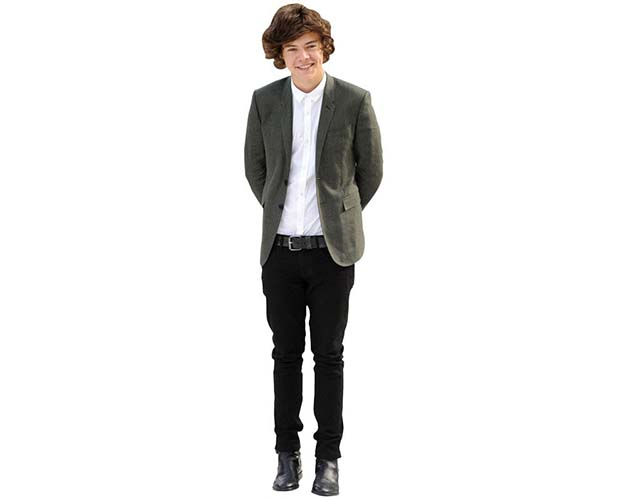 Cardboard Cutout Of Harry Styles Lifesize Celebrity Cutouts He's released the solo albums harry styles and fine line. harry styles grey blazer cutout